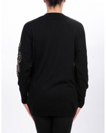 PINKO - BOUVARDIA cardigan in wool - Black