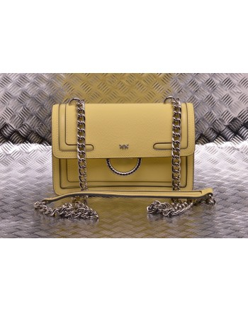 PINKO - LOVE NEW leather bag - Yellow