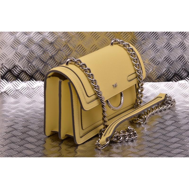 PINKO - LOVE NEW leather bag - Yellow