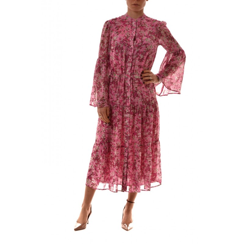 MICHAEL BY MICHAEL KORS -  Chiffon flounced dress - Ibisco