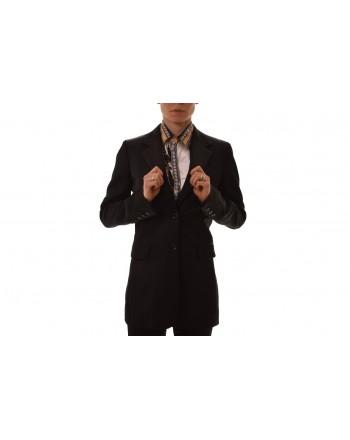 VERSACE COLLECTION - Giacca due bottoni con spacchi - Nero