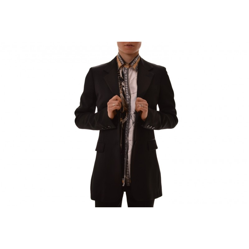 VERSACE COLLACTION - Two-button jacket with slits - Black