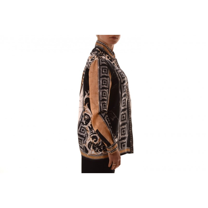 VERSACE COLLECTION - Silk shirt printed - Black