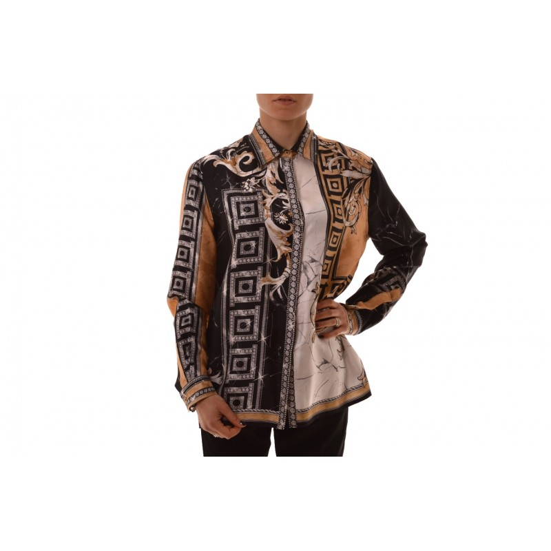 VERSACE COLLECTION - Silk shirt printed - Black