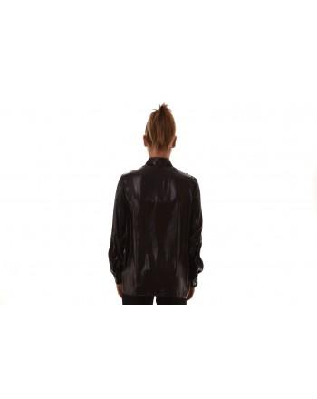 VERSACE COLLECTION - Camicia in seta con ricamo - Nero