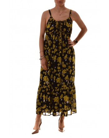 MICHAEL by MICHAEL KORS - GLAM PAINT Dress - Black Yellow