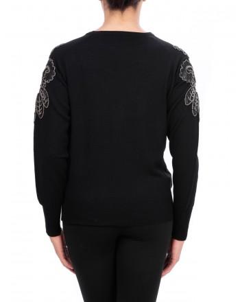 PINKO - BOUGANVILLE Wool Knit - Black