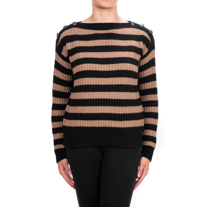 MAX MARA - SALPA Cashmere Shirt  - Camel/Black