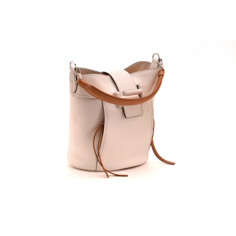 TOD'S - Leather bucket Bag  - White