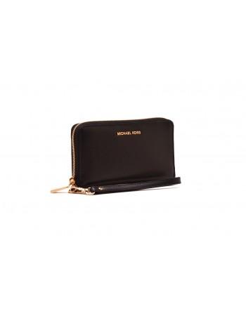 MICHAEL by MICHAEL KORS - Leather Wristlet Bag - Black