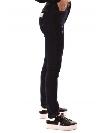PHILIPP PLEIN - Slim Fit Jeans with Tears - Wilder Night