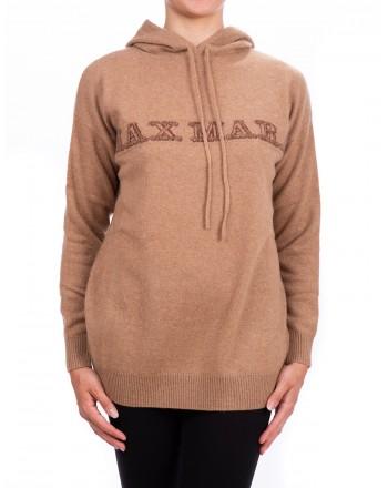 MAX MARA - SCRIGNO jersey in hooded cashmere  - Camel