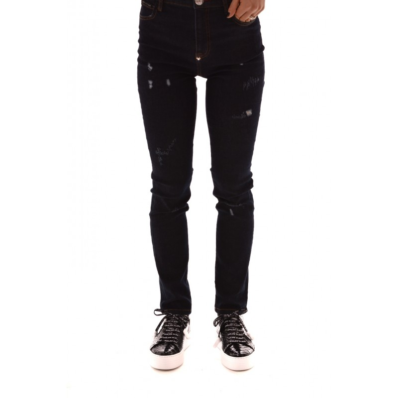 PHILIPP PLEIN - Jeans Slim Fit con Strappi - Wilder Night