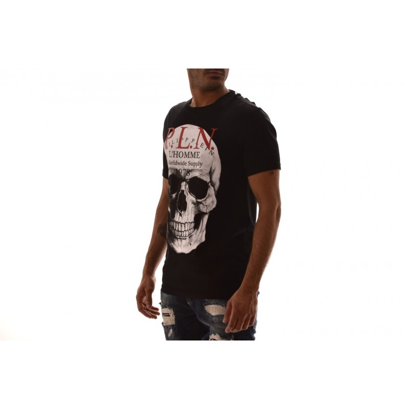 PHILIPP PLEIN - Cotton T-Shirt with print - Black