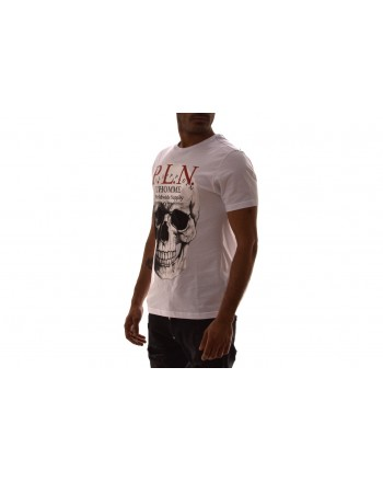 PHILIPP PLEIN - Cotton T-Shirt with print - White