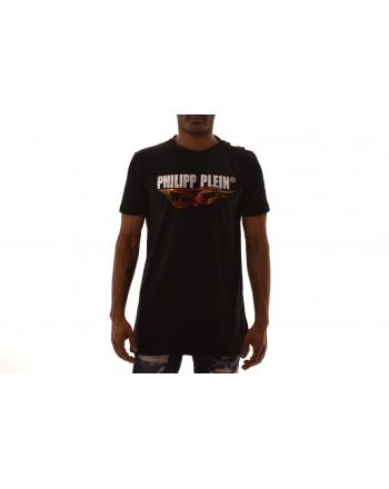 PHILIPP PLEIN - T-Shirt in cotone con stampa - Nero