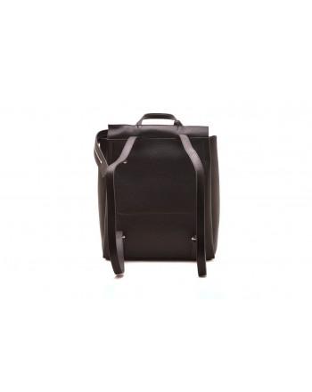 CALVIN KLEIN - Leather backpack - Black