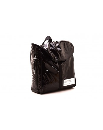 CALVIN KLEIN - Eco-leather backpack - Black