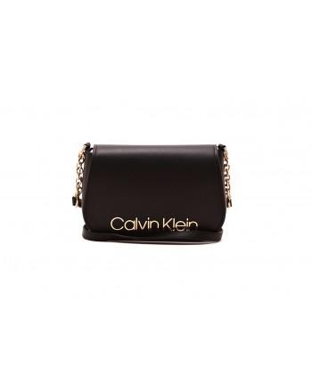 CALVIN KLEIN - Logo Shoulder Bag - Black