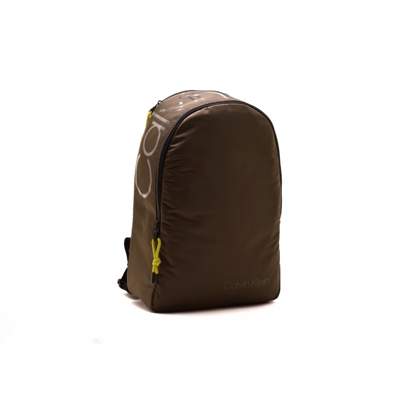 CALVIN KLEIN - Technical fabric backpack - Military