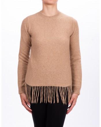 MAX MARA - Maglia TECNICO in filo di lana e cammello - Cammello