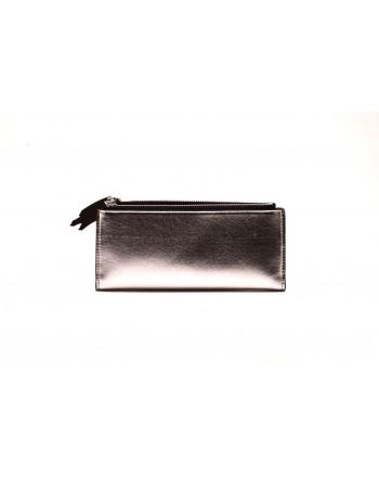 CALVIN KLEIN - Wellet in metal-effect leather - Silver