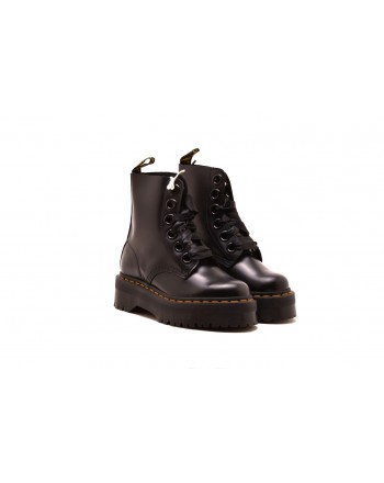 DR.MARTENS - Stivaletto MOLLY BUTTERO in pelle - Nero