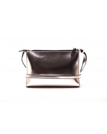 CALVIN KLEIN - Metal effect leather bag - Silver