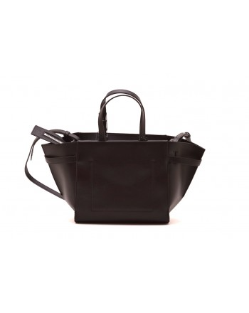 CALVIN KLEIN - Shopping bag in leather - Black