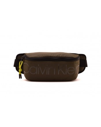 CALVIN KLEIN - Waist bag in technical fabric - Military