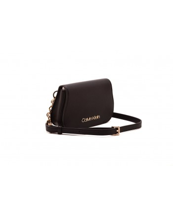 CALVIN KLEIN - Leather pouch - Black
