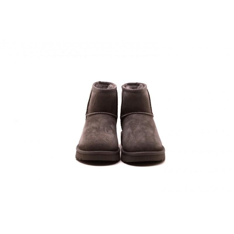 UGG - Stivali MINI in Montone e pelle scamosciata - Grey