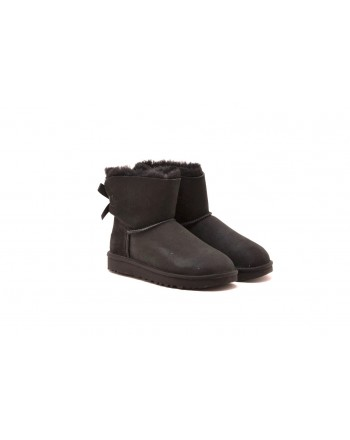 UGG - Mini BAILEY boots in Sheepskin and Suede - Black