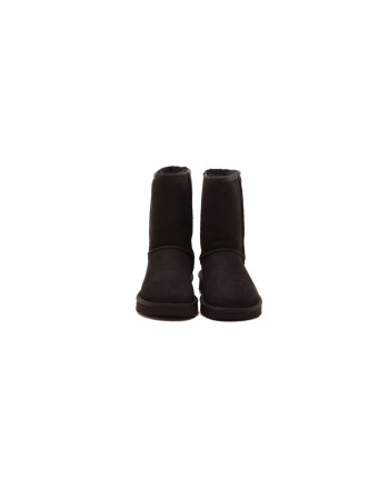 UGG - Classic short leather boot -Black