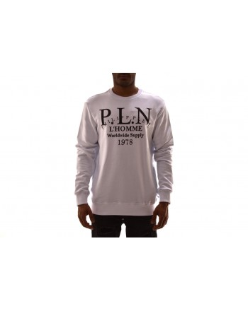 PHILIPP PLEIN - Cotton sweatshirt with print - White