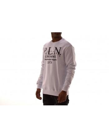 PHILIPP PLEIN - Felpa in cotone con stampa - Bianco