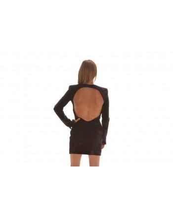 PHILOSOPHY di LORENZO SERAFINI - Lurex Dress with Backside Tear - Multicolour