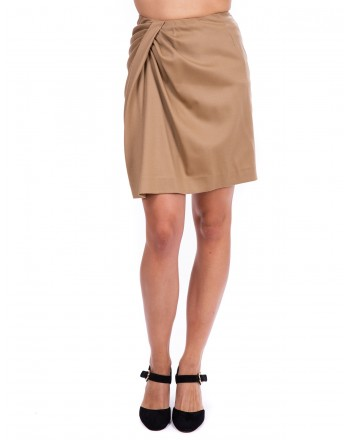 PINKO - Mini Gonna RENZO in flanella - Beige