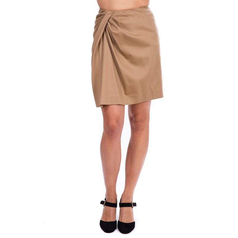 PINKO - Mini skirt RENZO in flannel - Beige