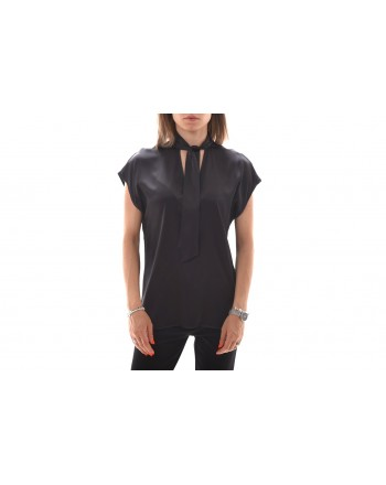 PINKO Blusa Satin Stretch VEGLIARE nero