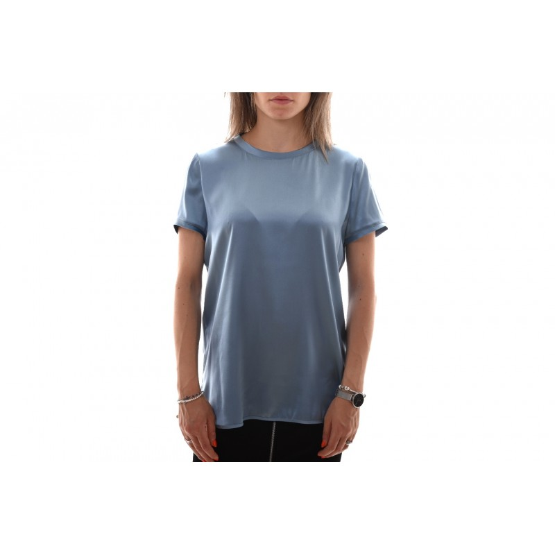 PINKO Blusa Satin Stretch TIRARE light blue
