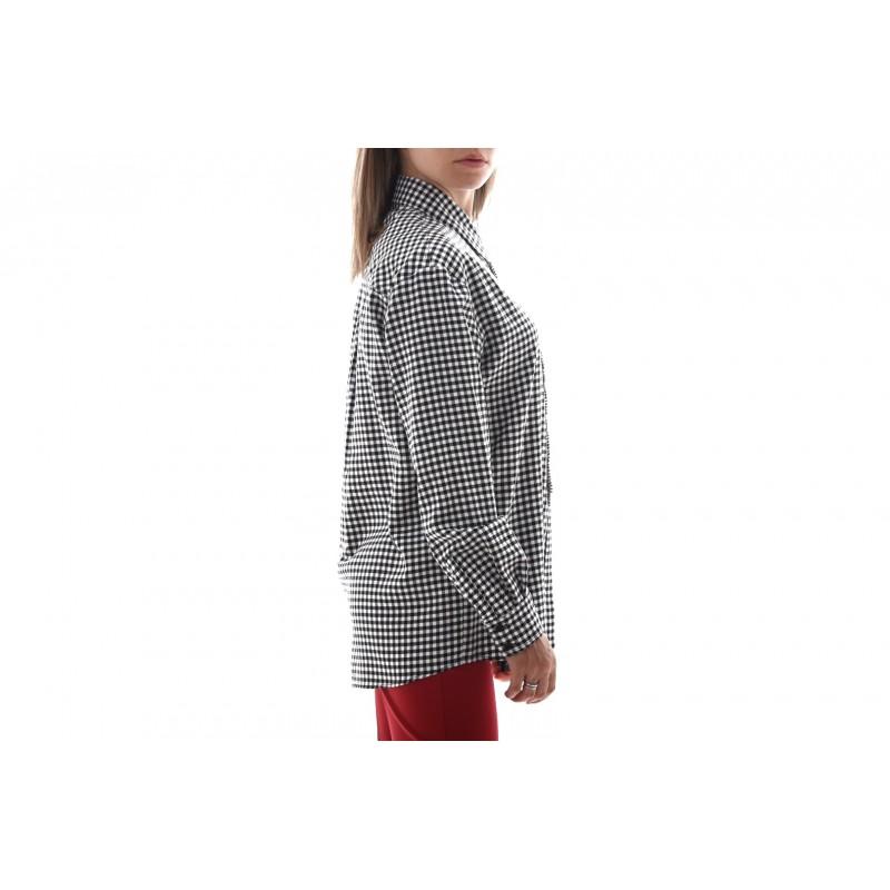 PINKO Camicia TWILL SCARICARE - Bianco/Nero