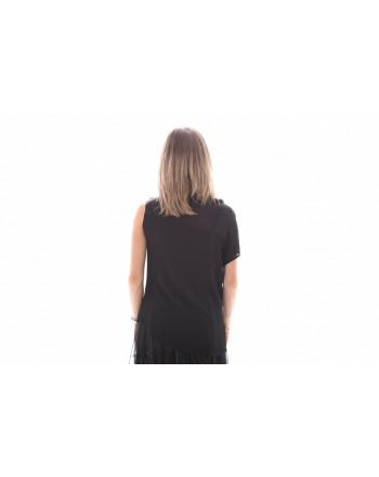 PINKO - Top Crepe De Chine STRILLARE - Nero