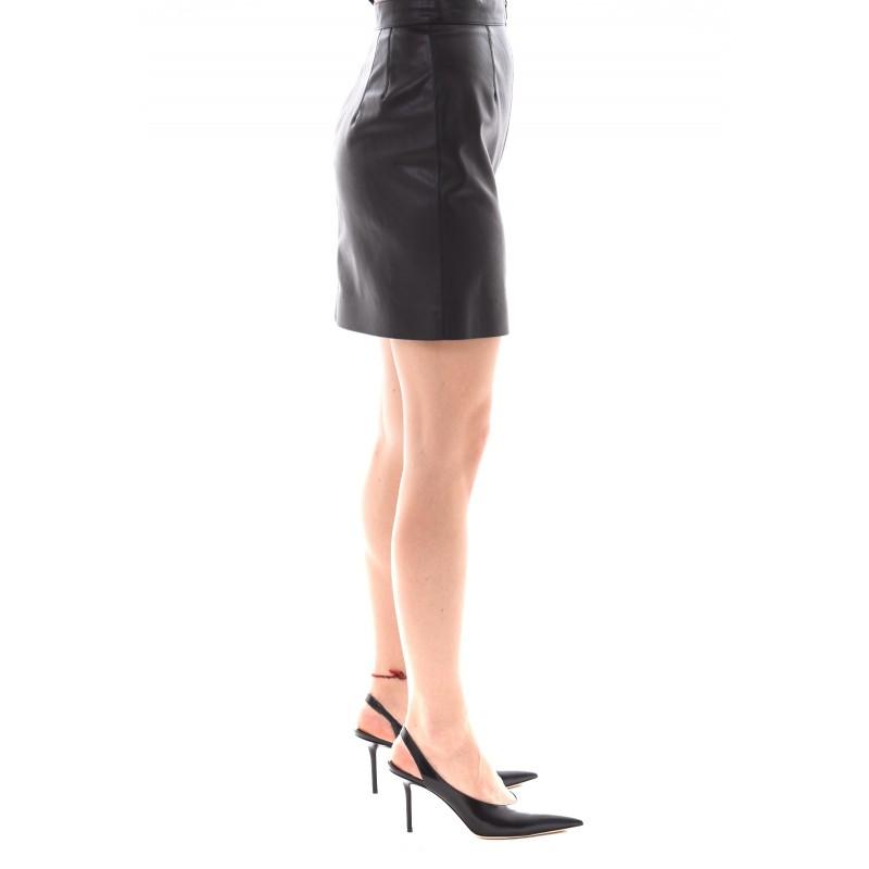 PINKO - LEVIGARE faux leather mini skirt - Black