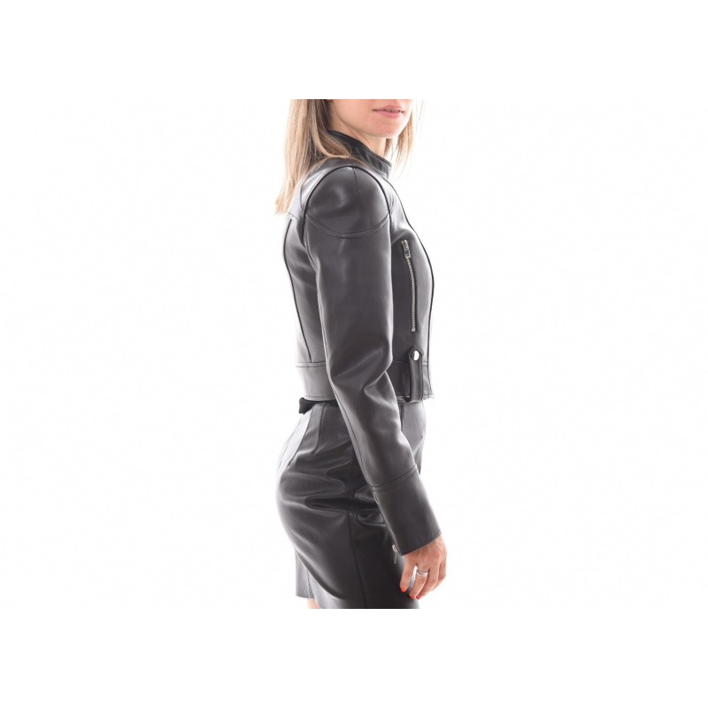 PINKO -Leather  Biker Jacket VIETARE