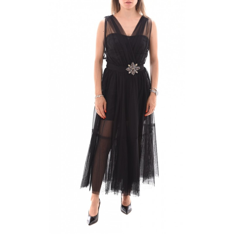 PINKO - Tulle Dress OTTIMARE - Black