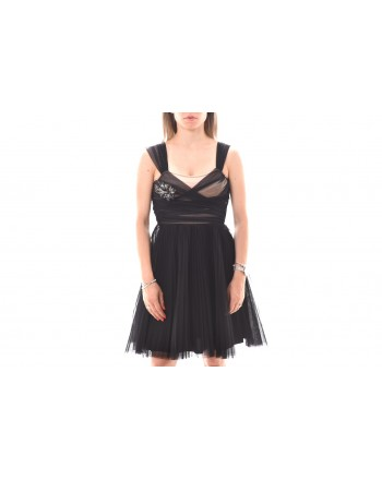 PINKO -  RIVALUTARE dress in tulle - Black