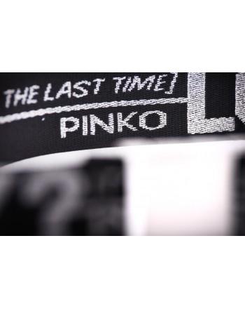 PINKO - Cintura a Nastro con Scritte FUTURA - Nero