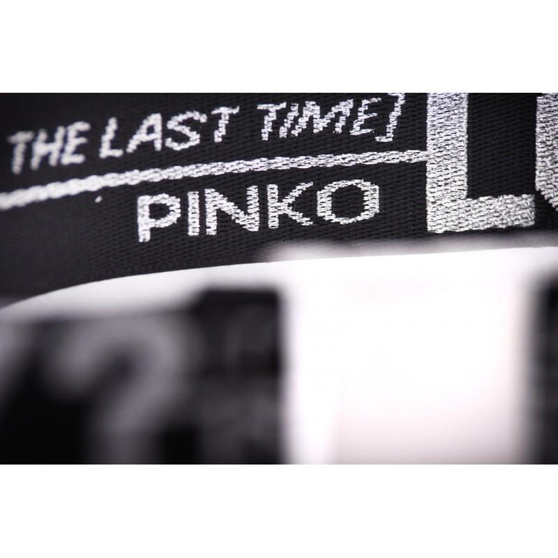 PINKO - Band Belt with Writings FUTURA  - Black