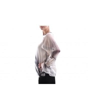 MAX MARA - Camicia in Seta NEGRAR - Crema/Nero